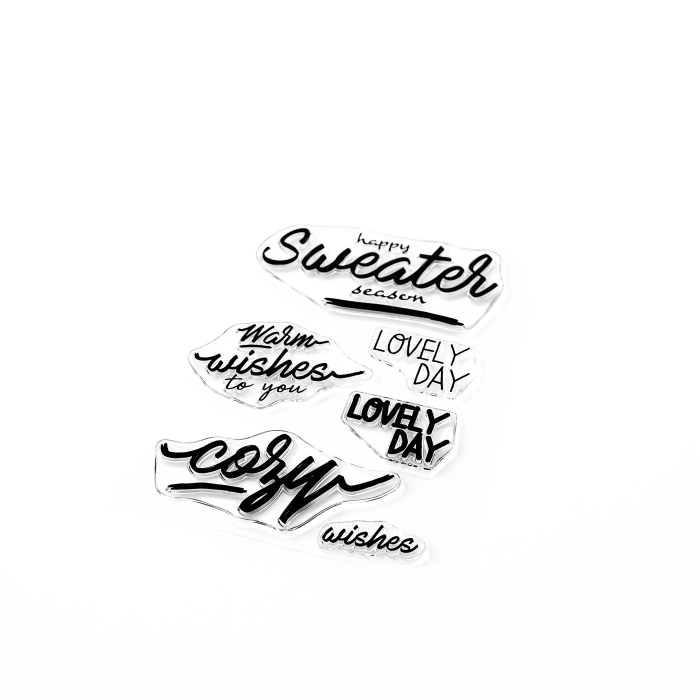Sweater Season Sentiments Stamp
