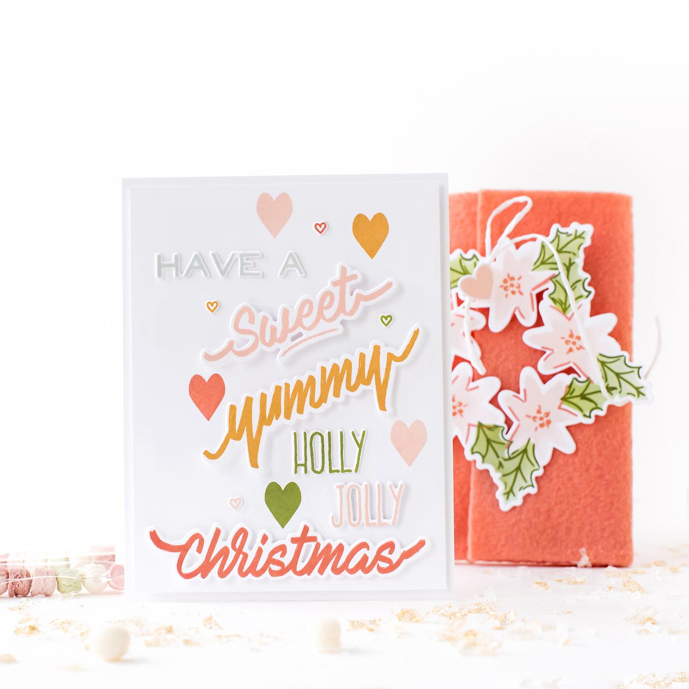 Pigment Christmas Season Sentiments Stamp
