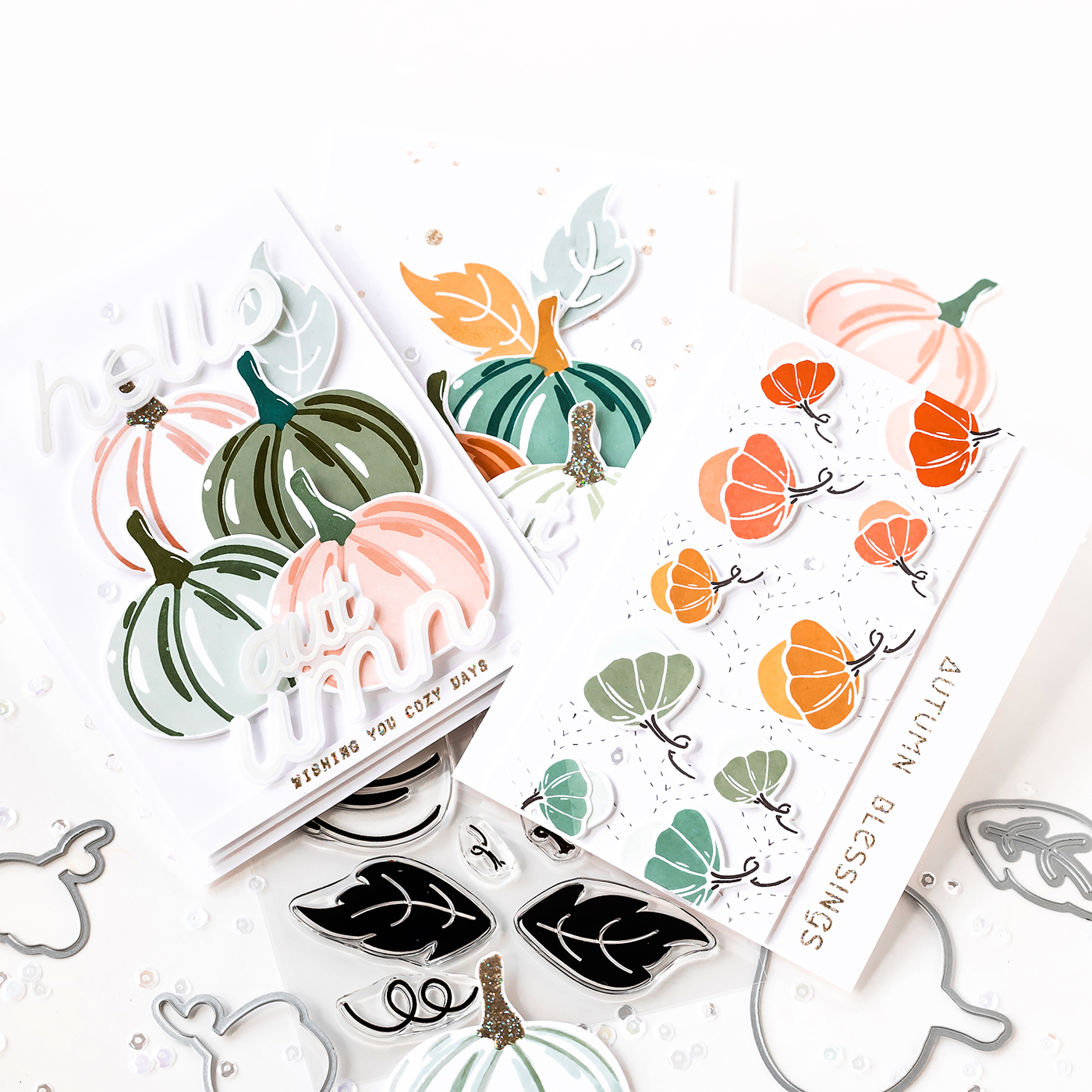 Pigment Pumpkin Patch Stamps and Dies