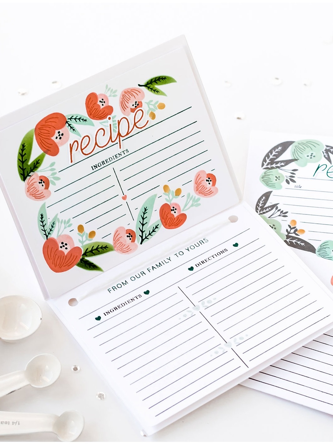 Pigment Recipe Card Builder Stamps and Dies