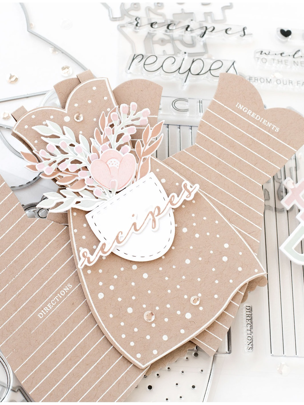 Pigment Apron Strings Stamps and Dies