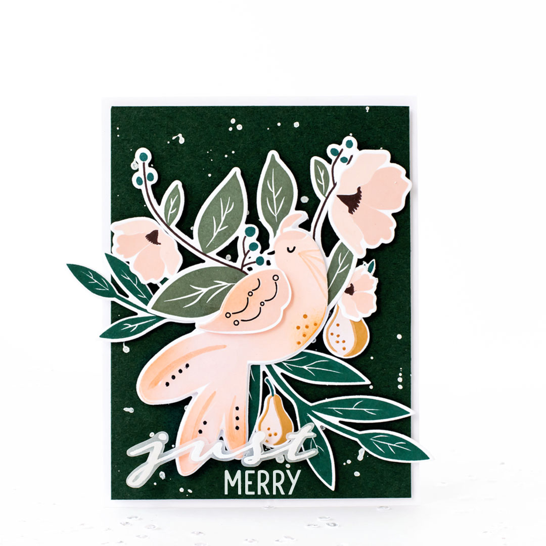 Pigment Birds of Christmas Partridge Stamps