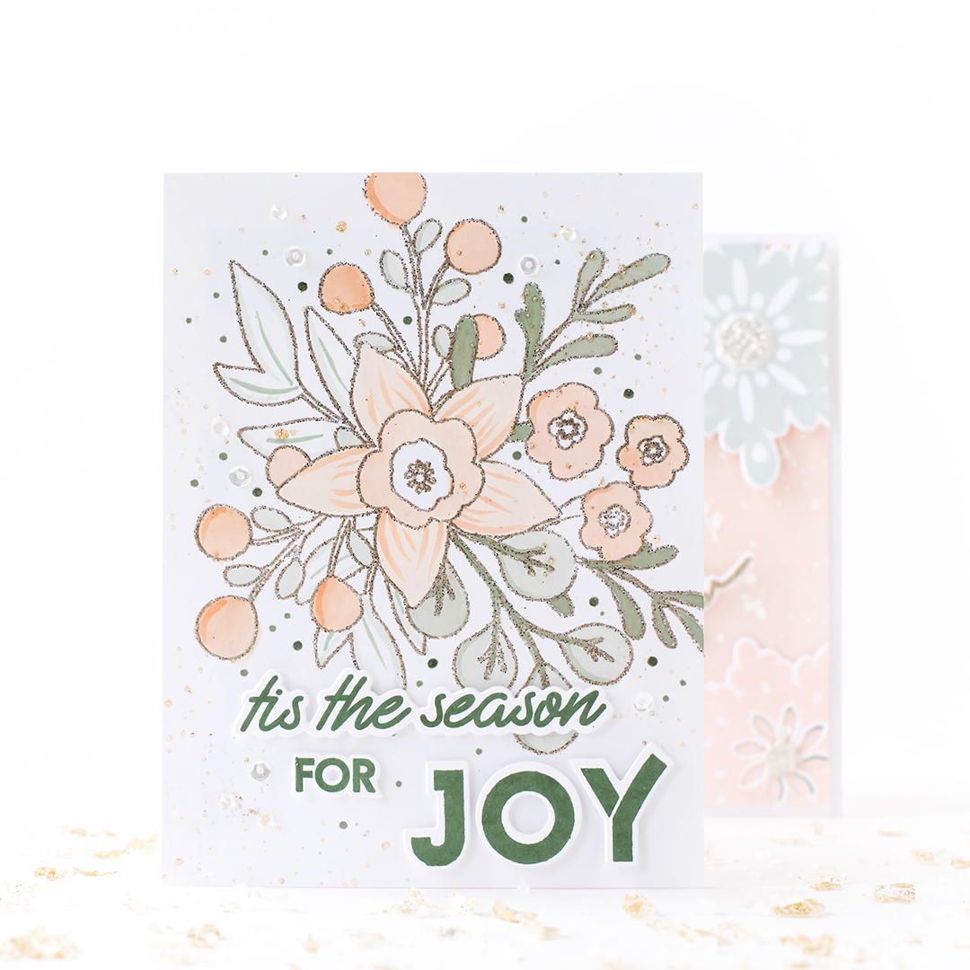 Pigment Christmas Bouquet Outline Stamp