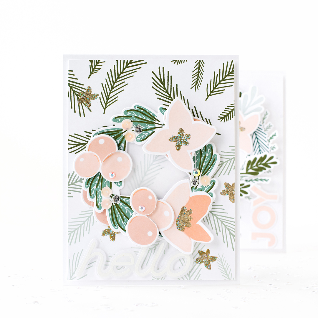 Pigment Festive Floral Stamp