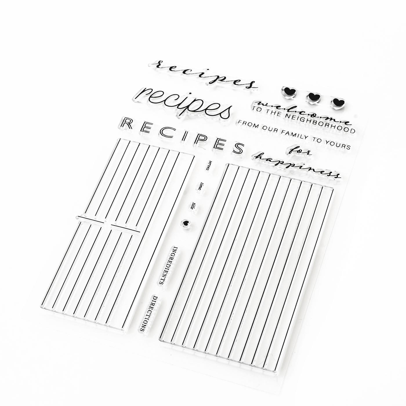 Pigment Recipe Card Builder Stamps