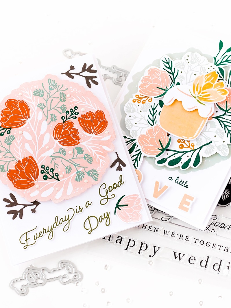 Pigment Delicate Florals Shadow Stamp