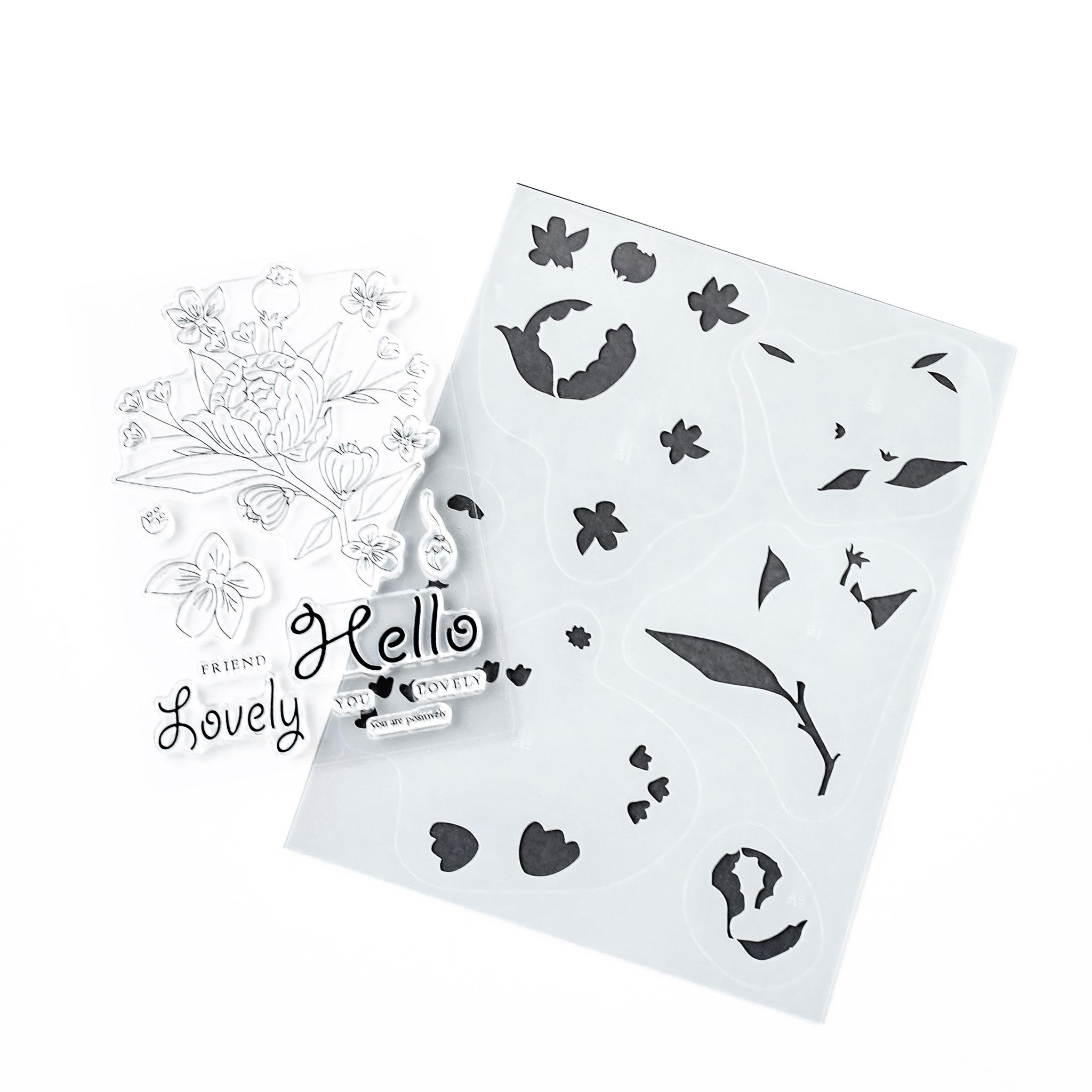 Blooming Floral Stamp and Stencil Bundle