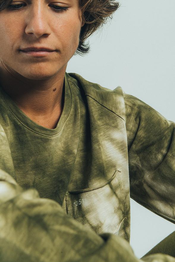 Long Sleeve Tie dye Militar Green
