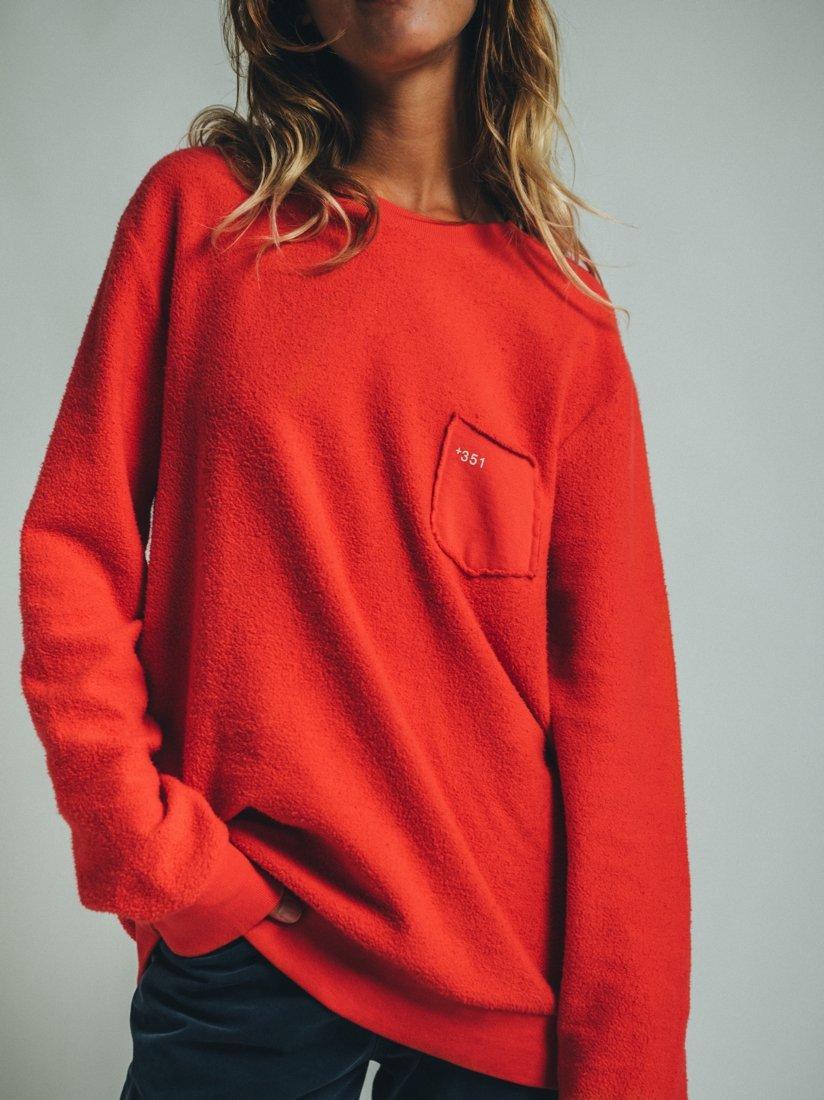 Sweatshirt Cozy Essential Bright Red