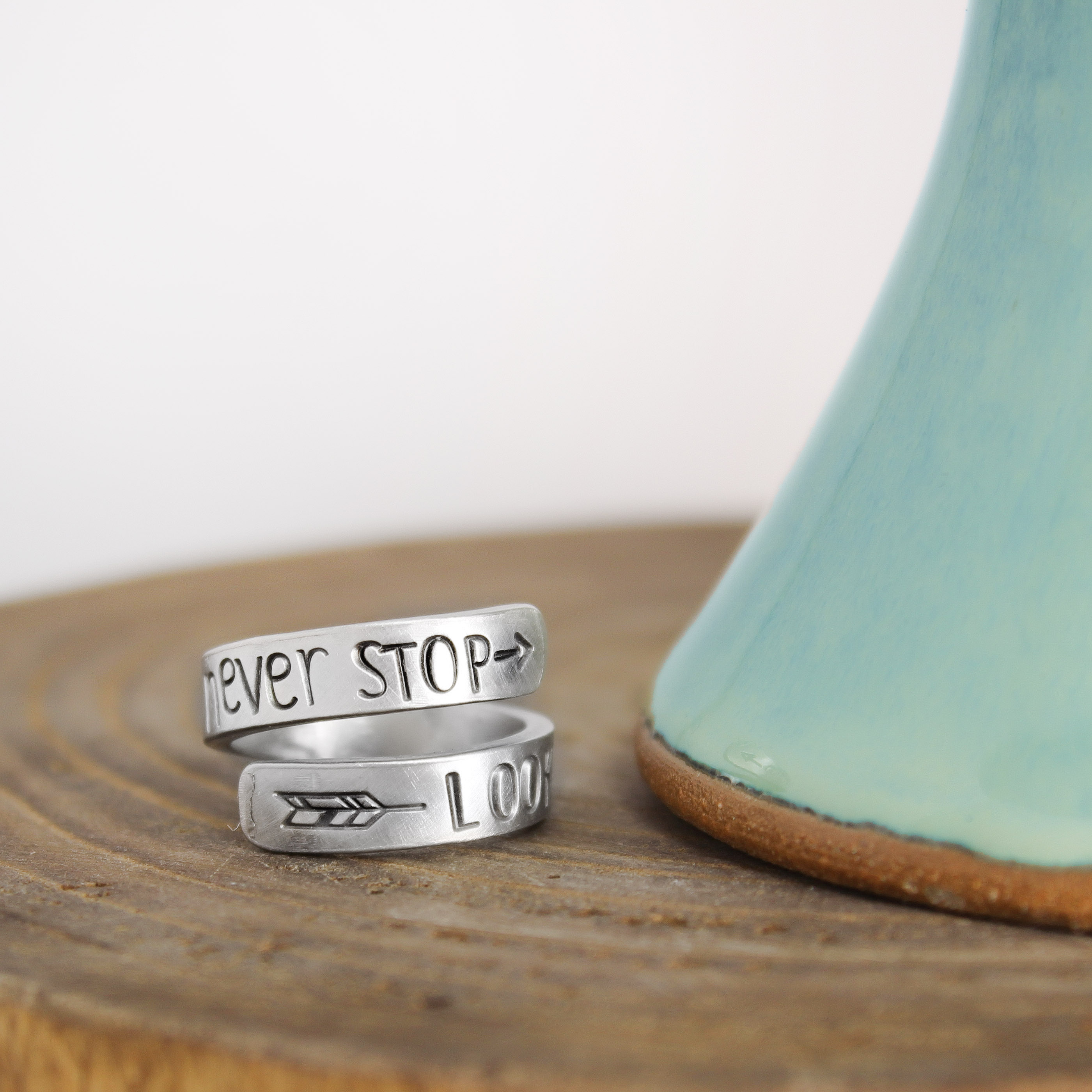 Never Stop Looking Up Ring