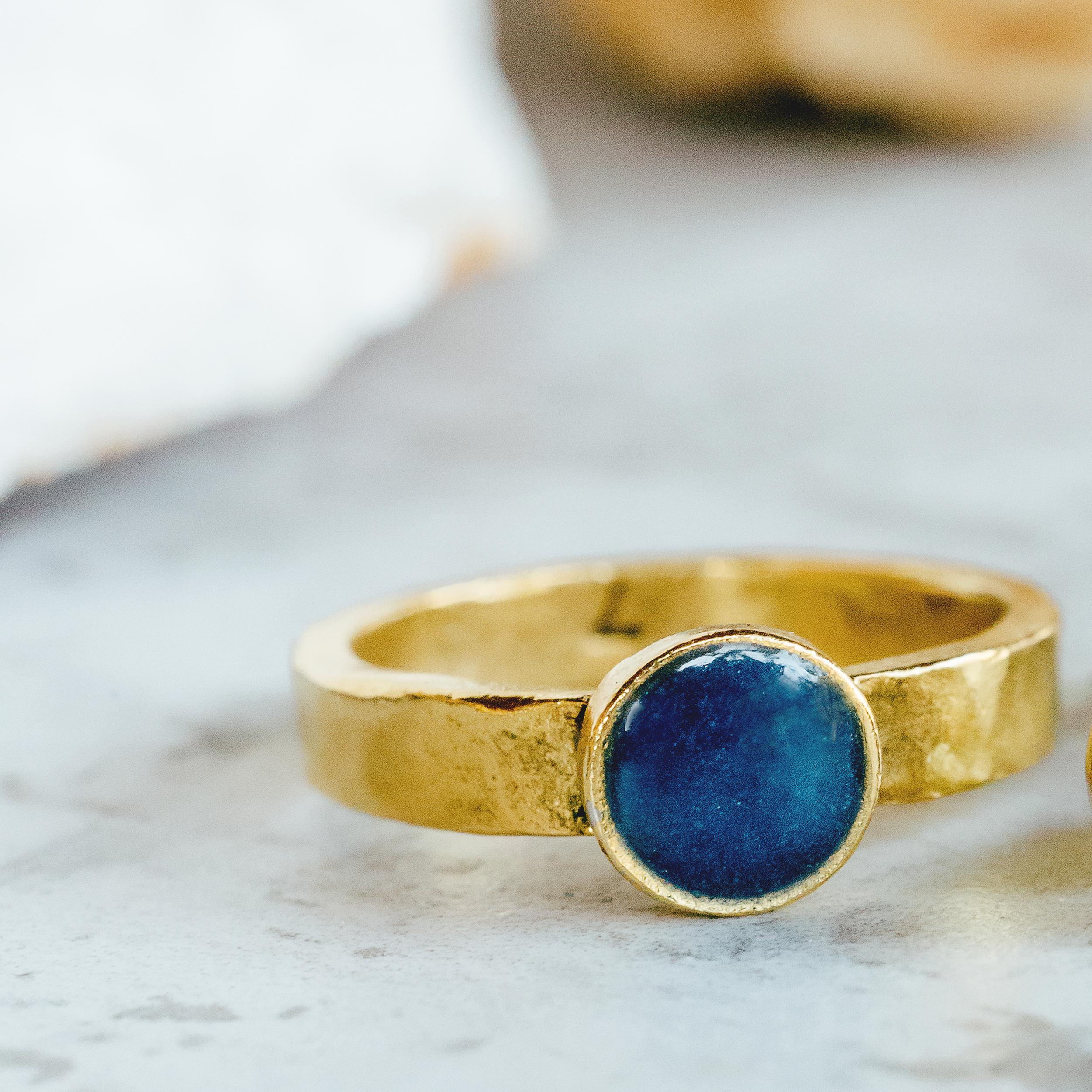 Gold Lapis Lazuli Ring
