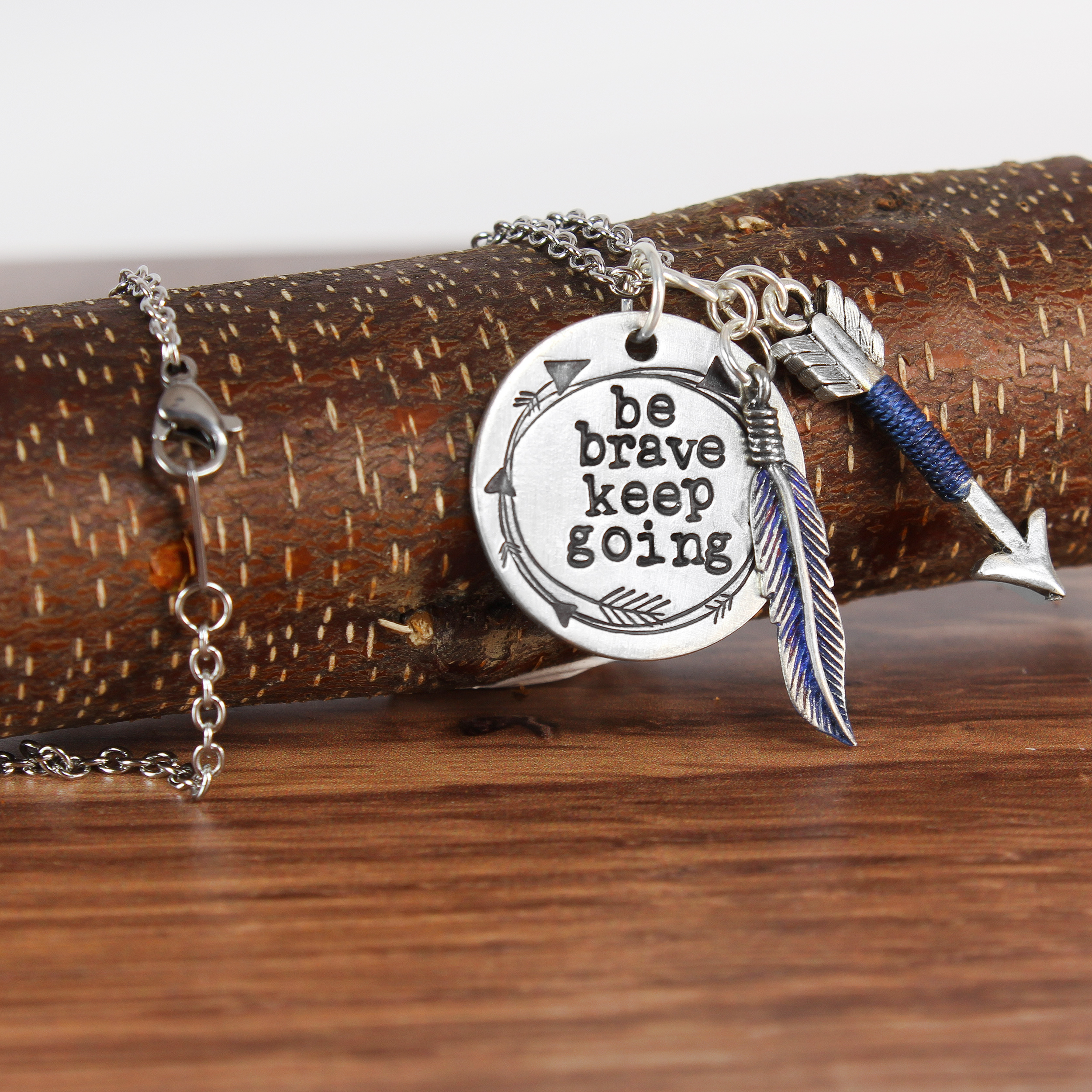 Be Brave Keep Going Necklace