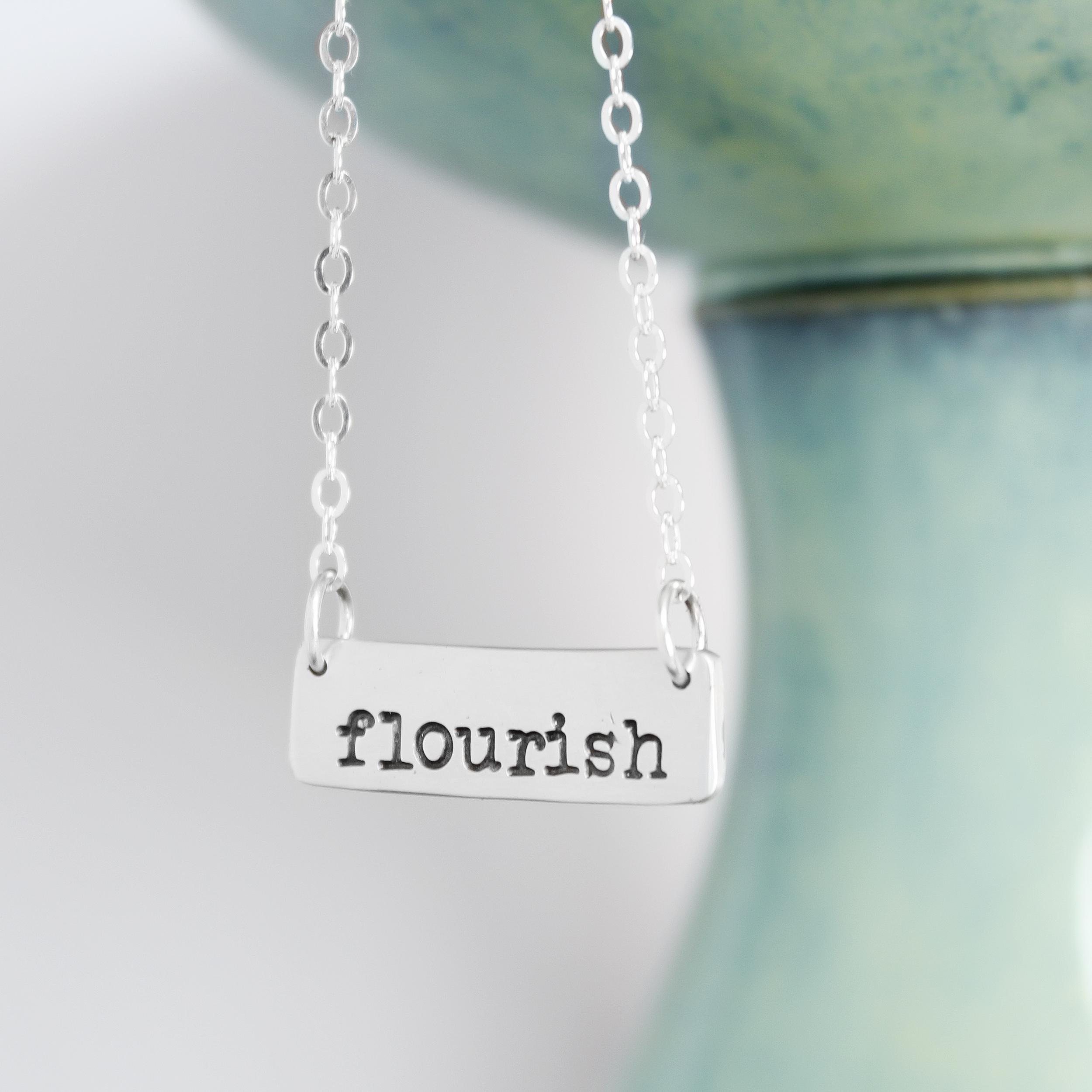 Silver Inspiration Necklace - Flourish Necklace