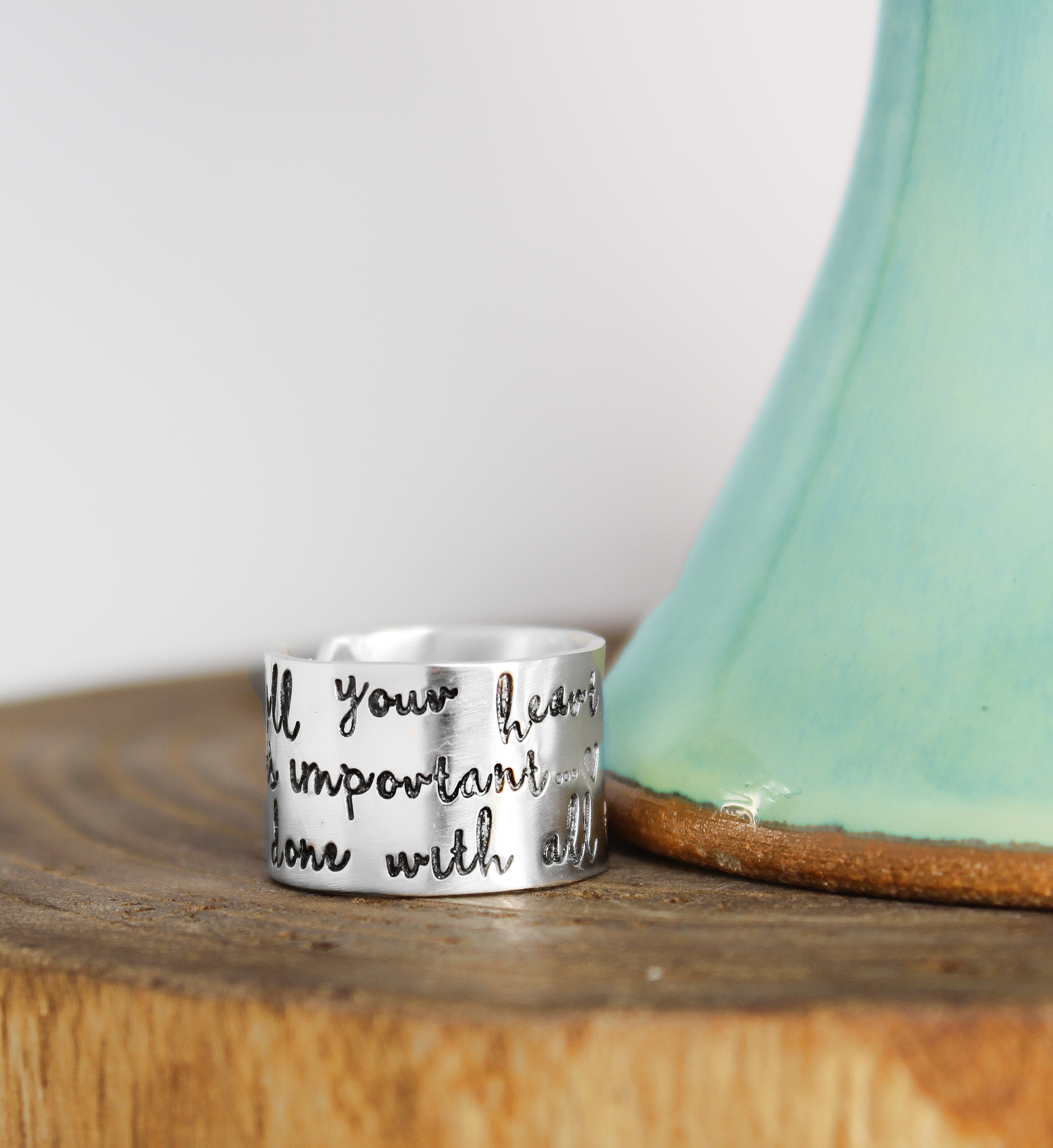 So Fill Your Heart Inspiration Ring