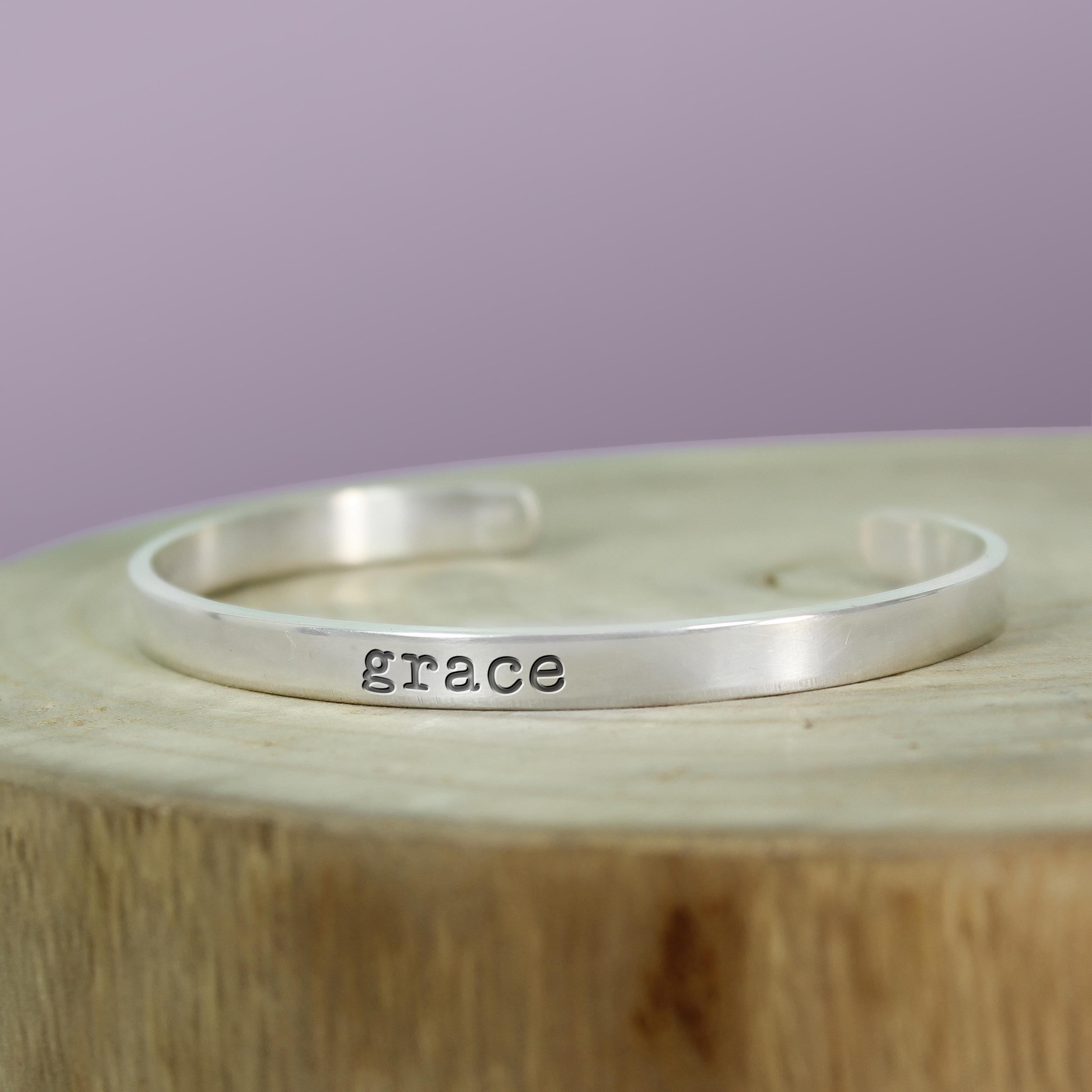 Silver Inspiration Cuff - Grace Bracelet