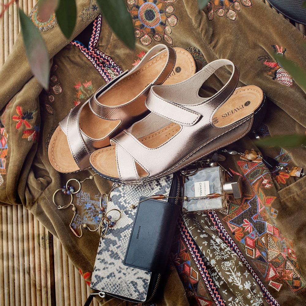 Silver Sling Back Sandals