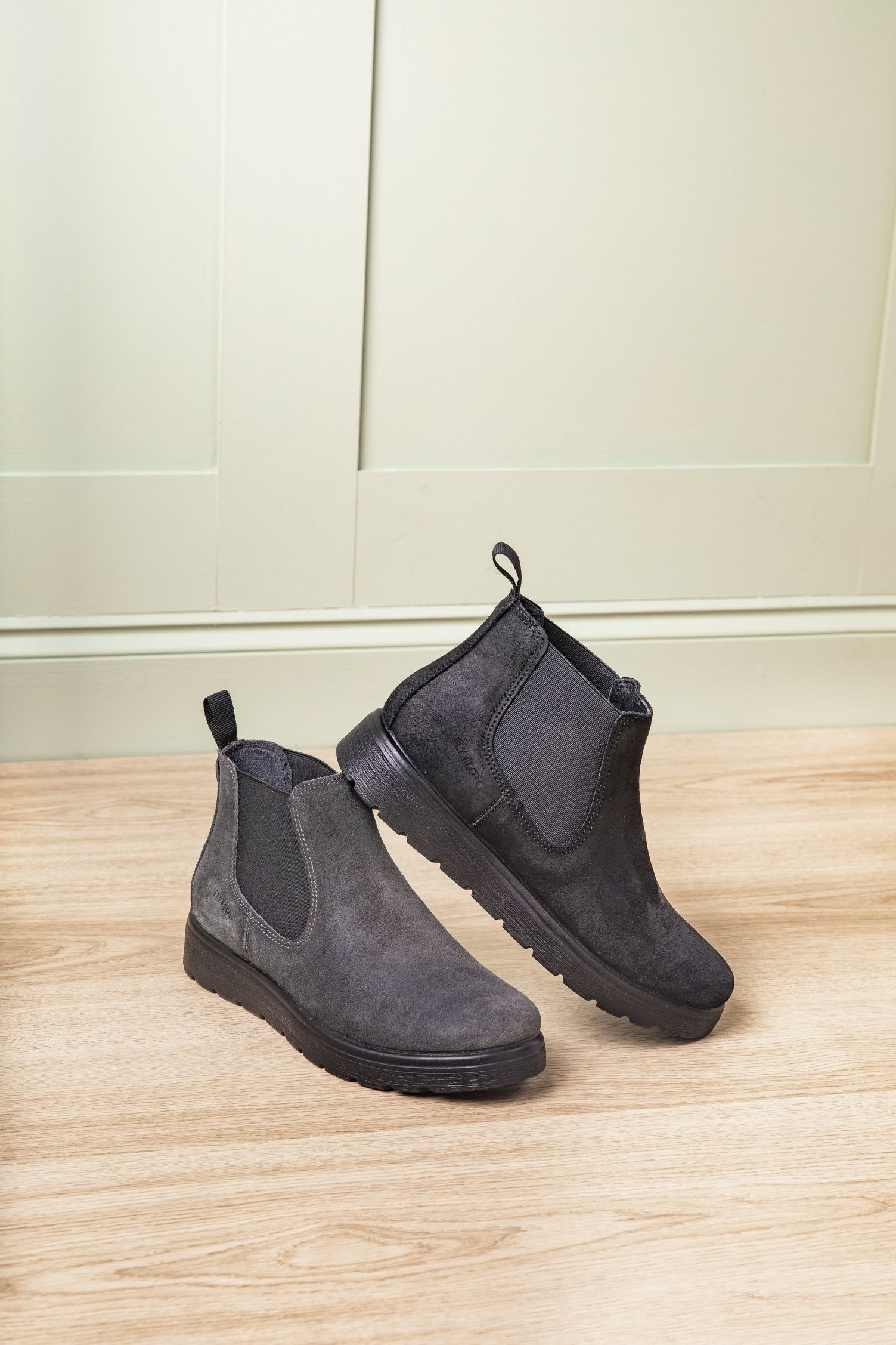 Wide Fit Suede Chelsea Boots