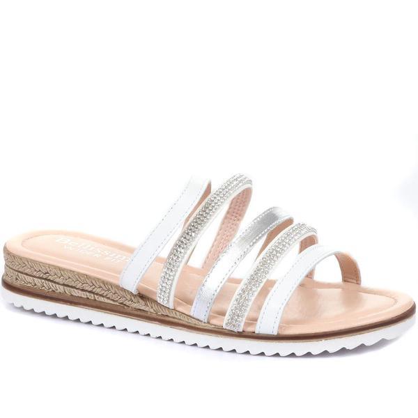 Wide fit mule sandals
