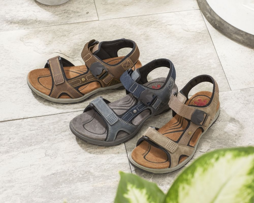Dual Fitting Touch Fastening Sandals