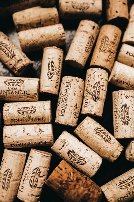 Rolhas de vinho da Casa Fontanari, vinícula de Bento Gonçalves no Rio Grande de Sul, Brasil