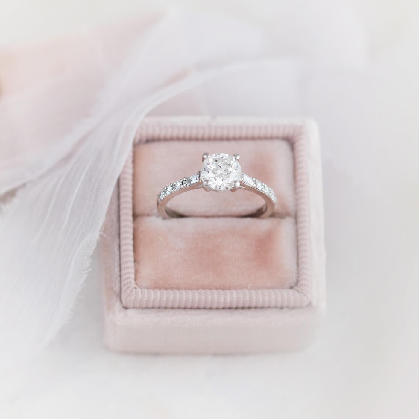 Custom Pave Engagement Ring Setting