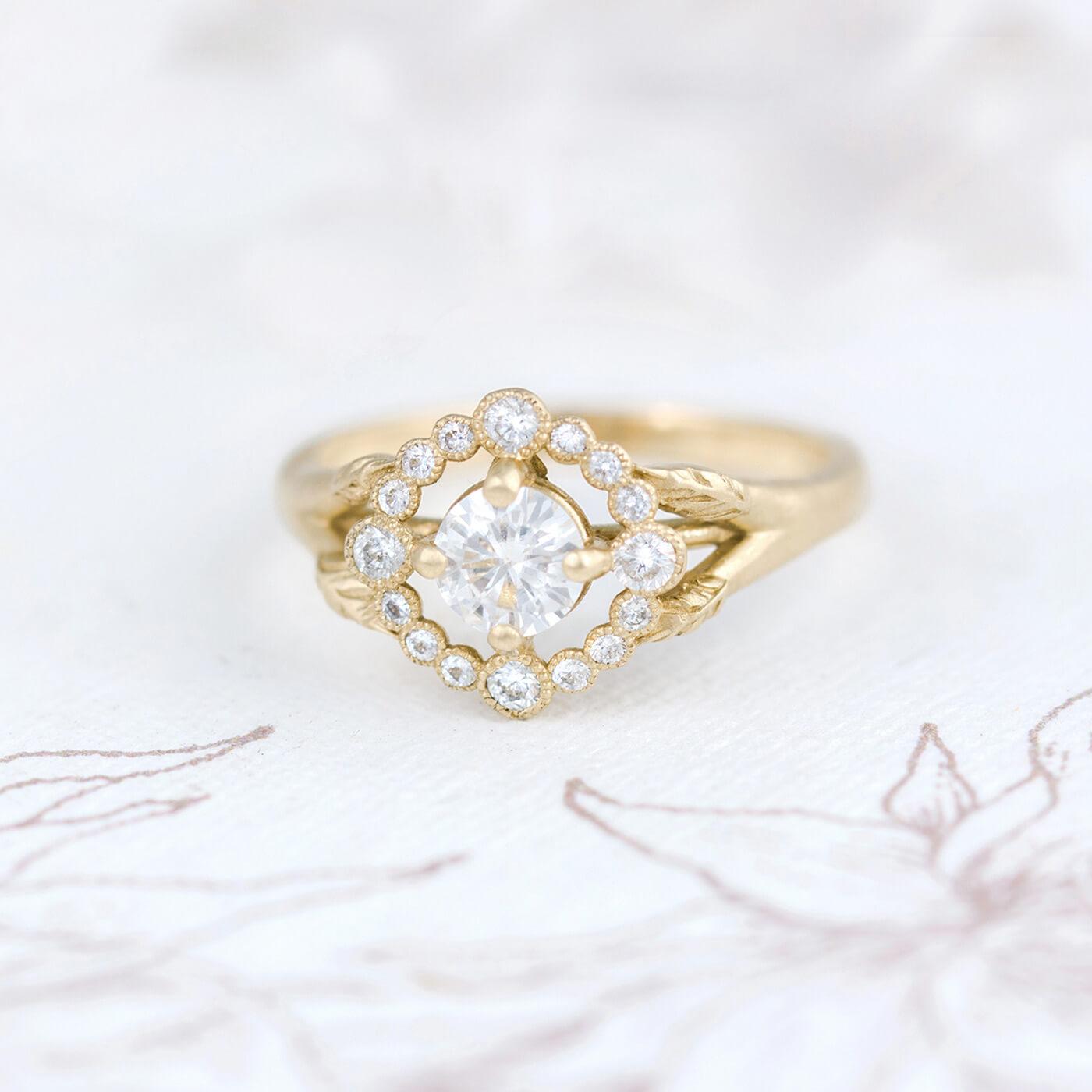 Halo Engagement Ring Setting