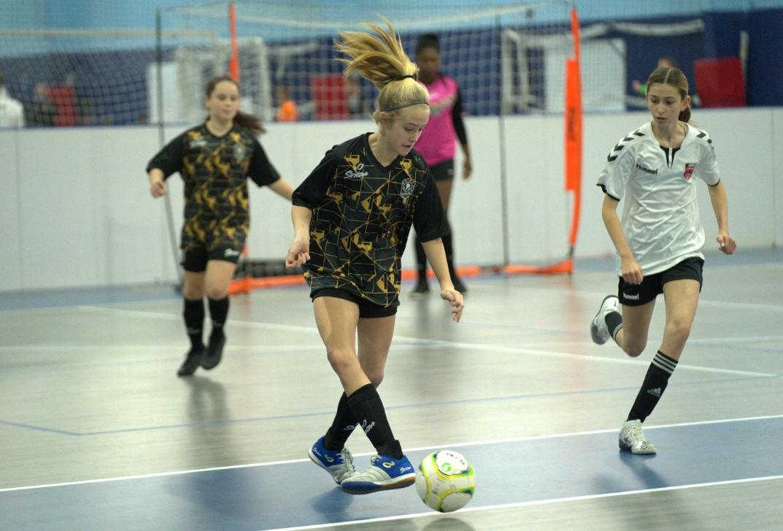 Girls playing futsal