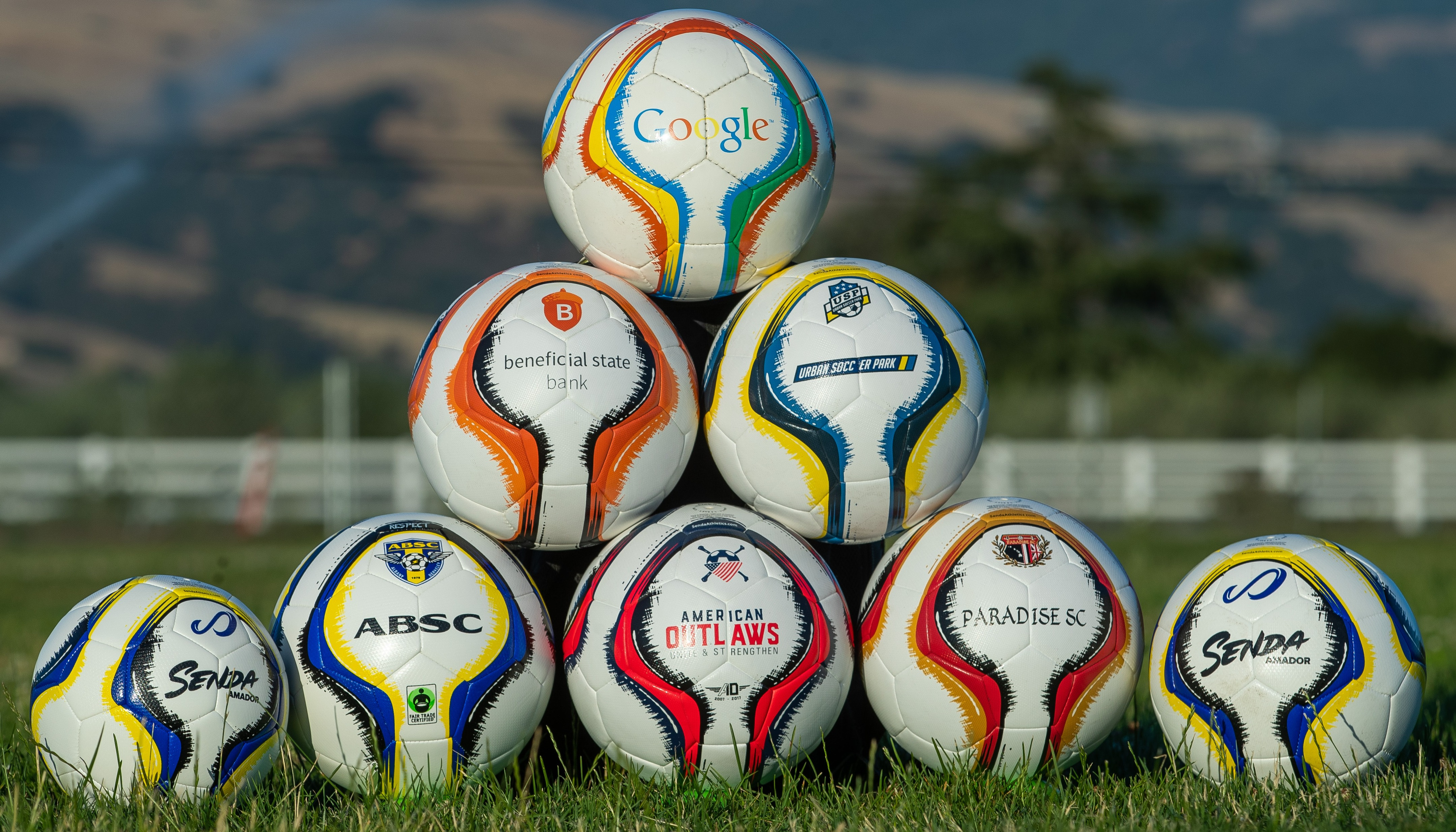 Senda assorted customized balls