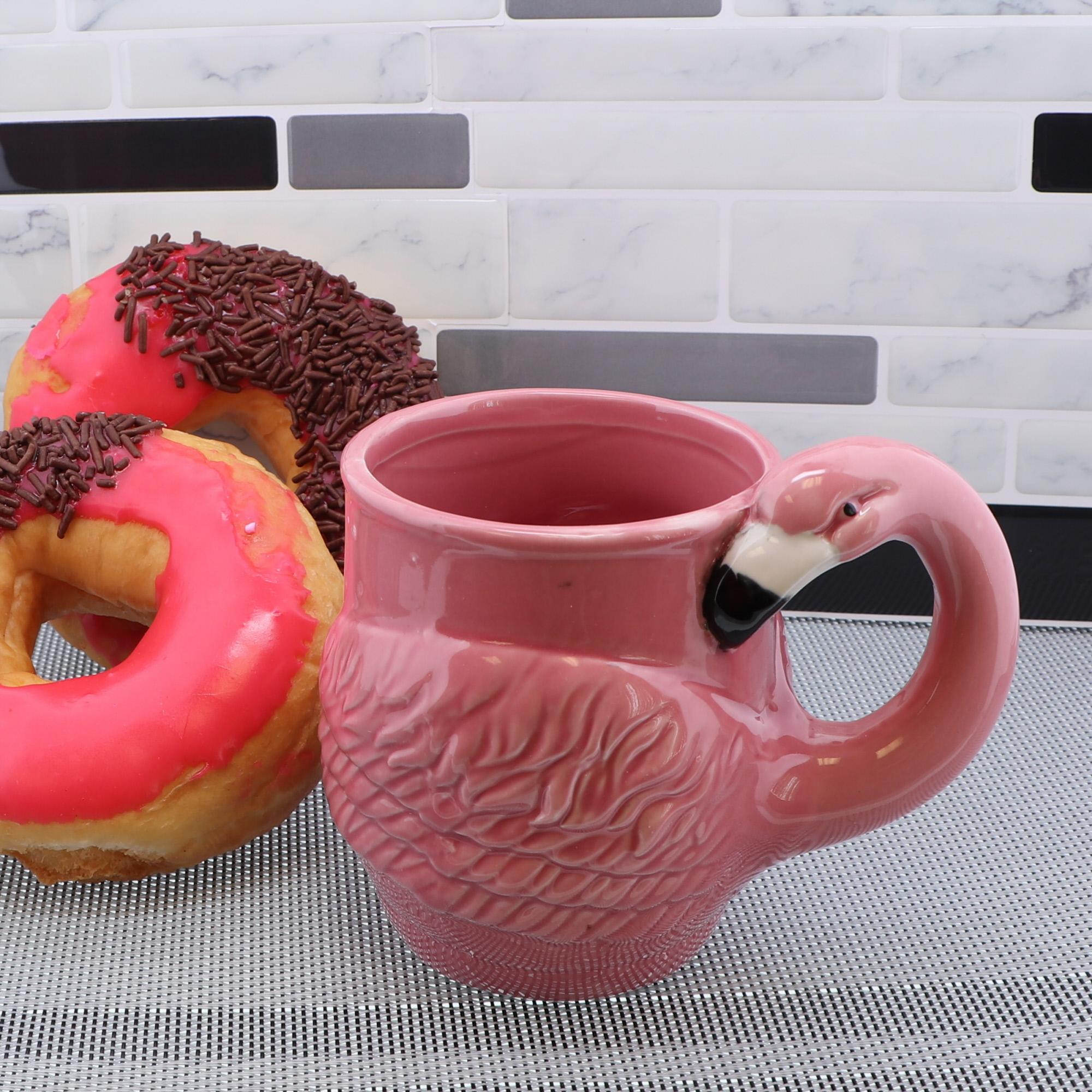 ceramic flamingo mug