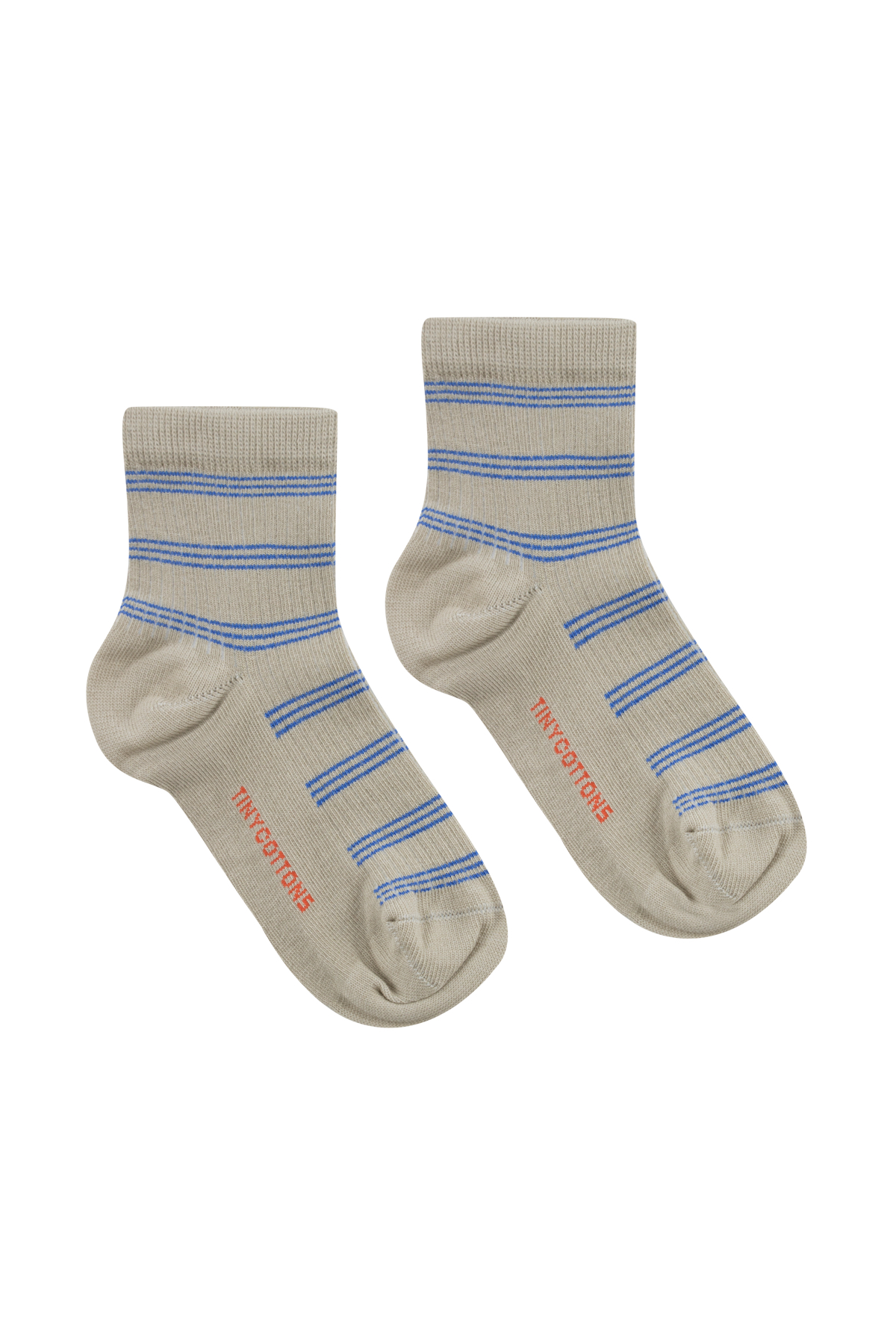 tinycottons retro stripes quarter socks light olive