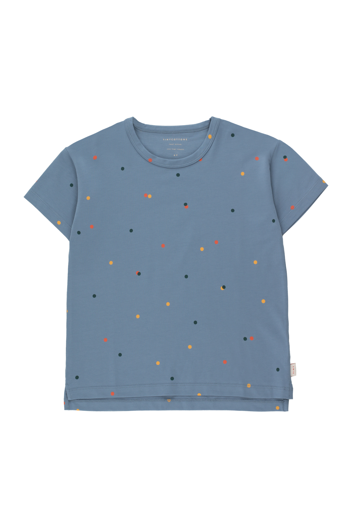 tinycottons ice cream dots tee grey blue