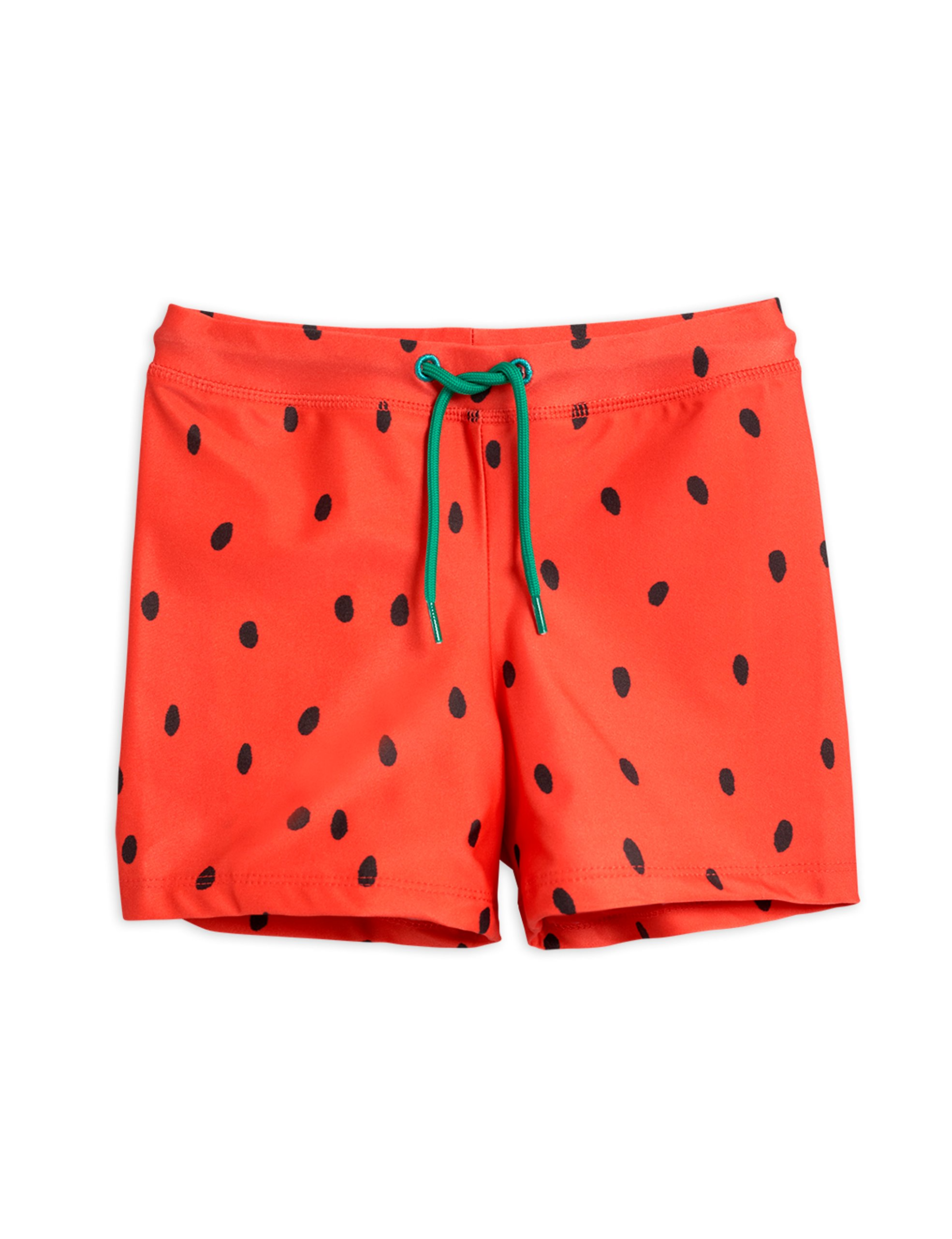 mini rodini strawberry swim shorts red