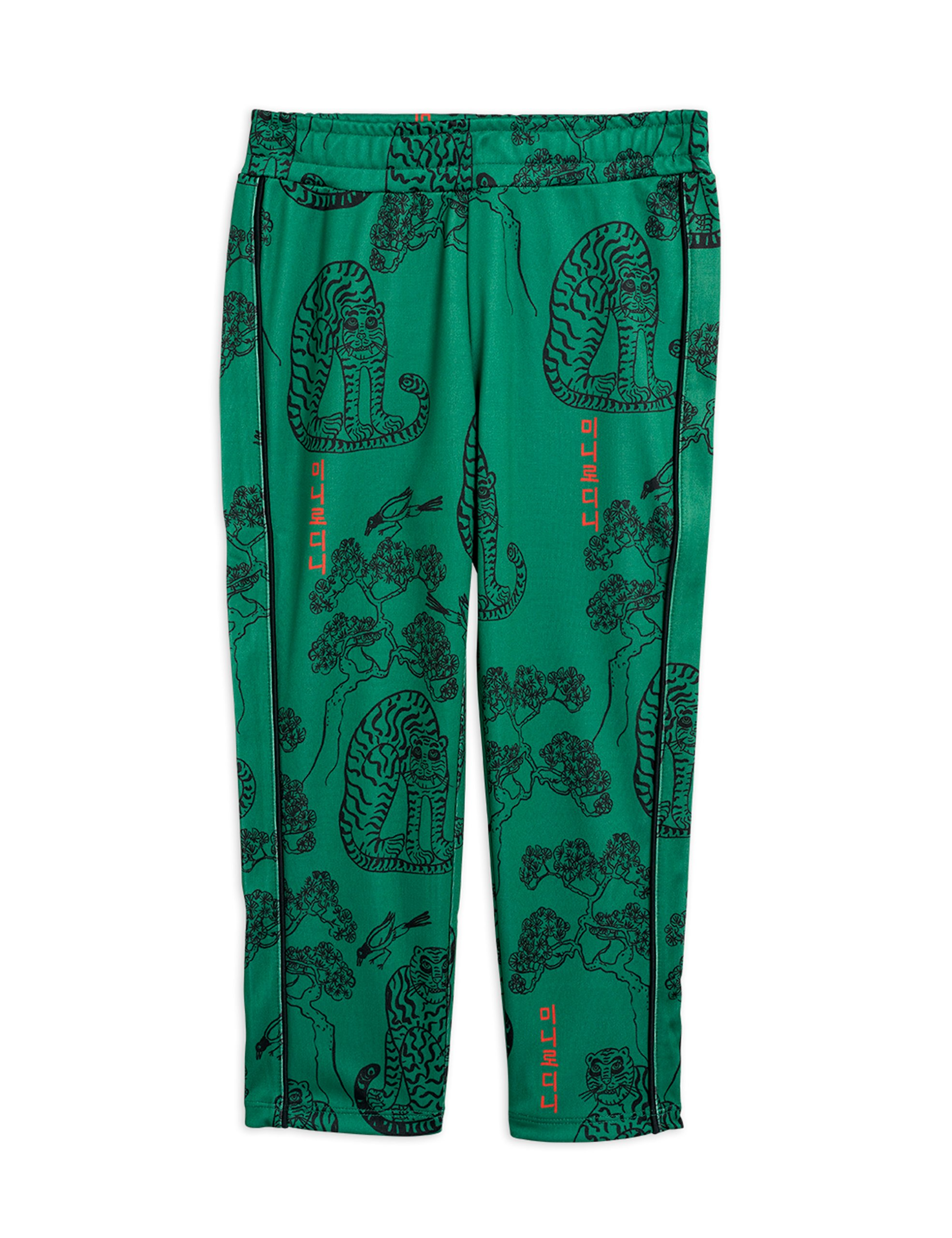mini rodini tigers wct trousers green