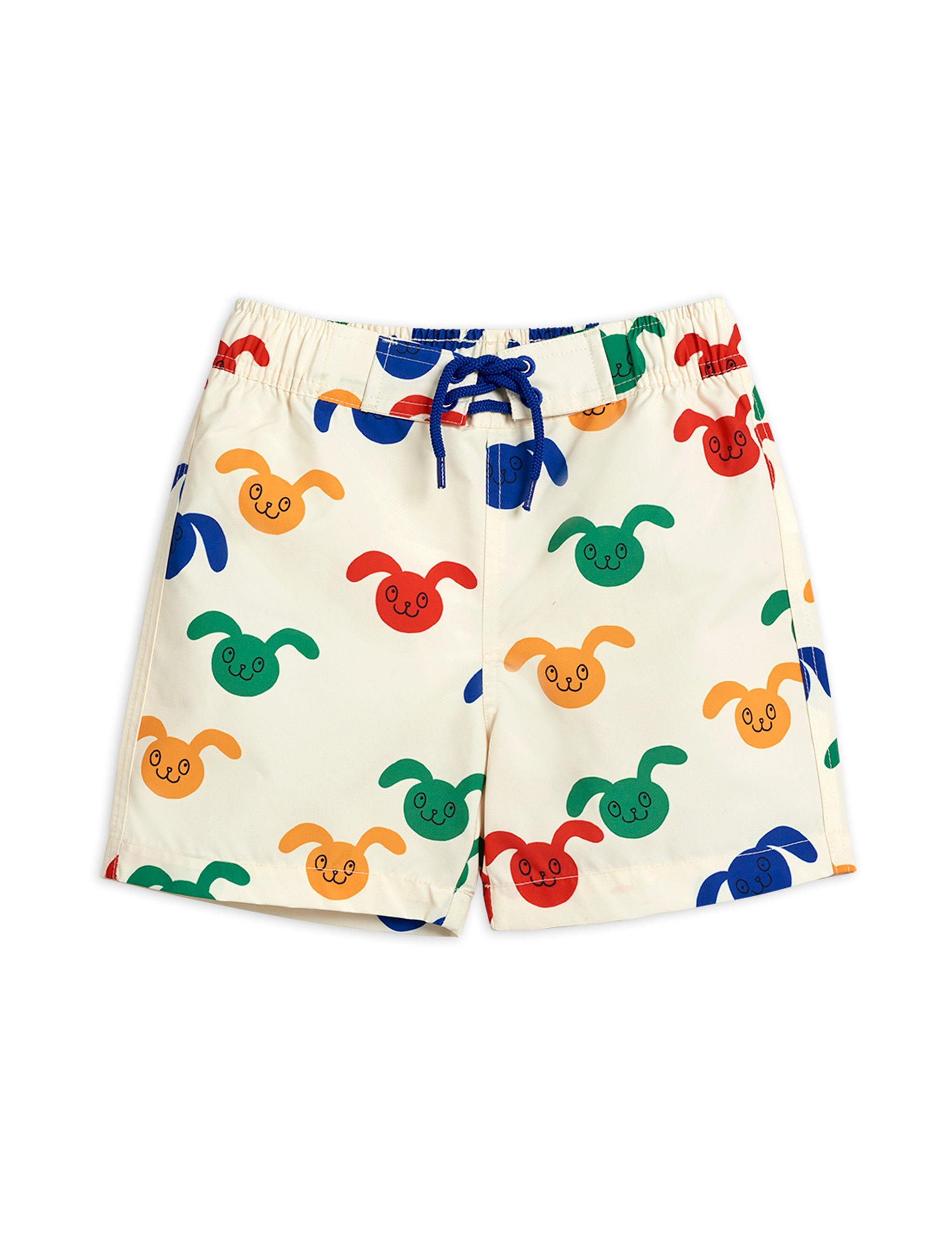 mini rodini rabbit swim shorts offwhite