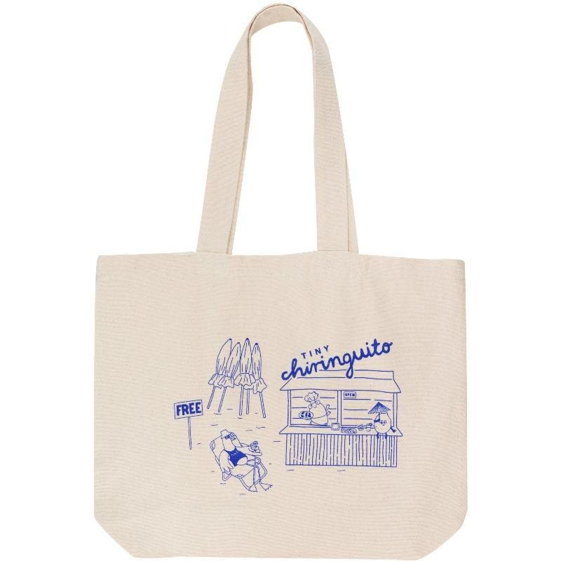 tinycottons chiringuito merchandise bag light cream