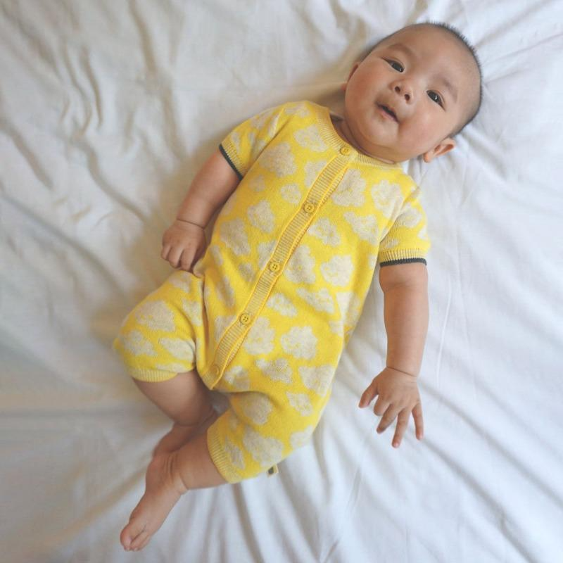the bonnie mob hockney cloud playsuit yellow