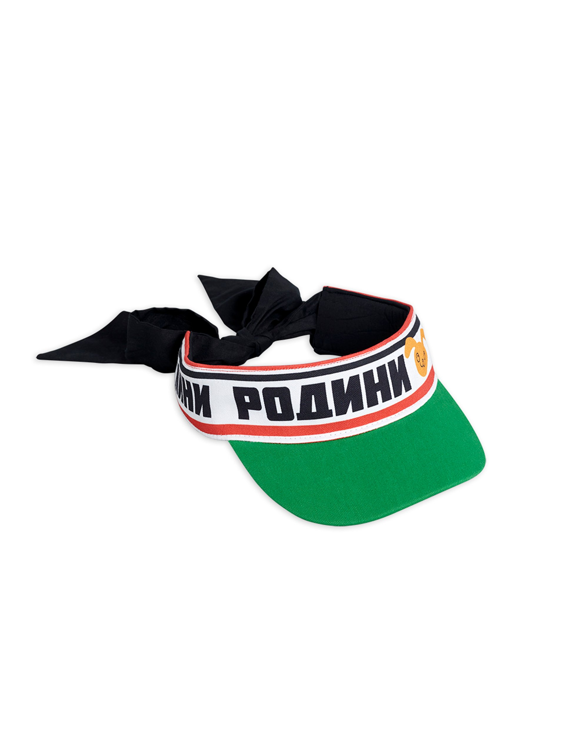 mini rodini moscow bow tie visor green