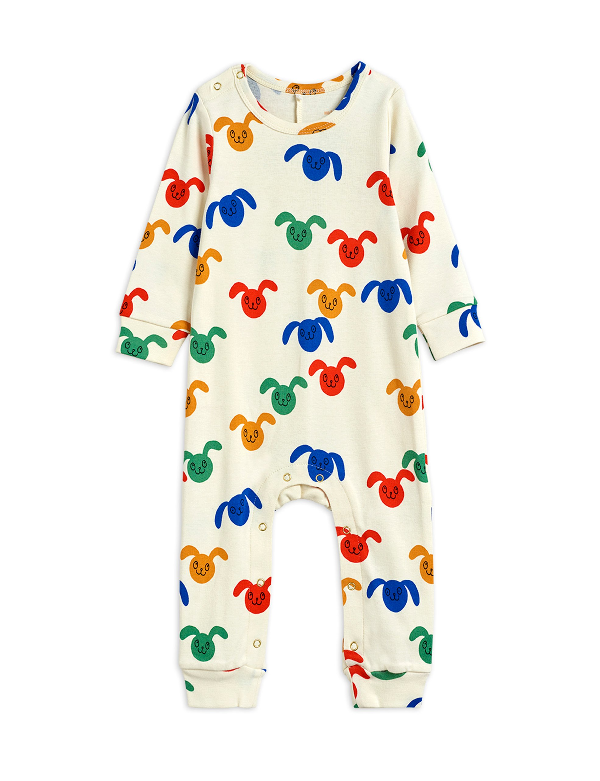 mini rodini rabbits allover baby jumpsuit multi