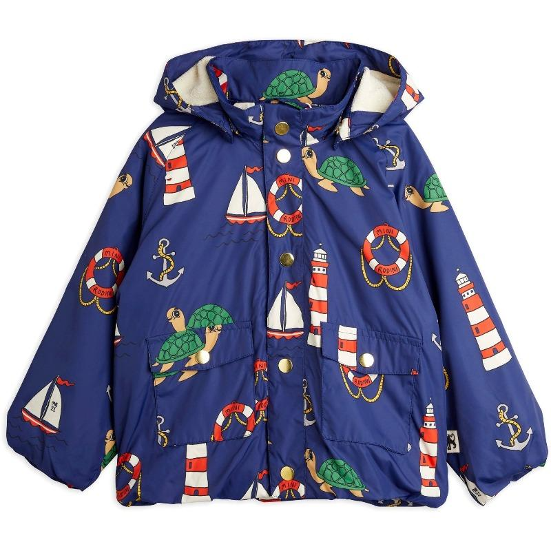 mini rodini light puffer jacket navy