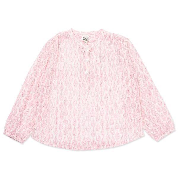bonton leaves tunic pink