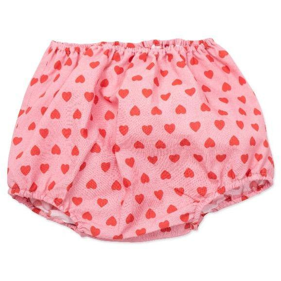 bonton hearts baby bloomers pink red