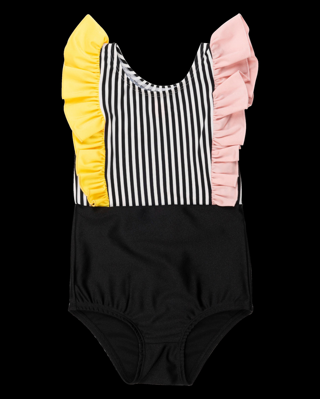 wauw capow by bang bang copenhagen harper swimsuit black white striped