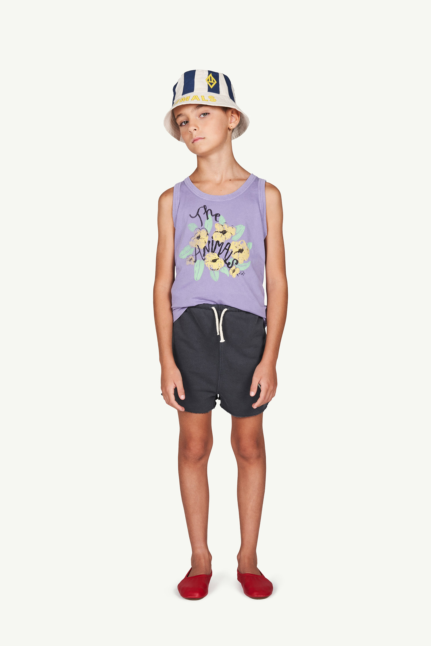the animals observatory frog kids t shirt purple flowers