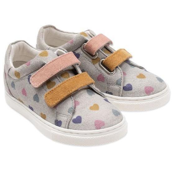 bonton hearts canvas shoe