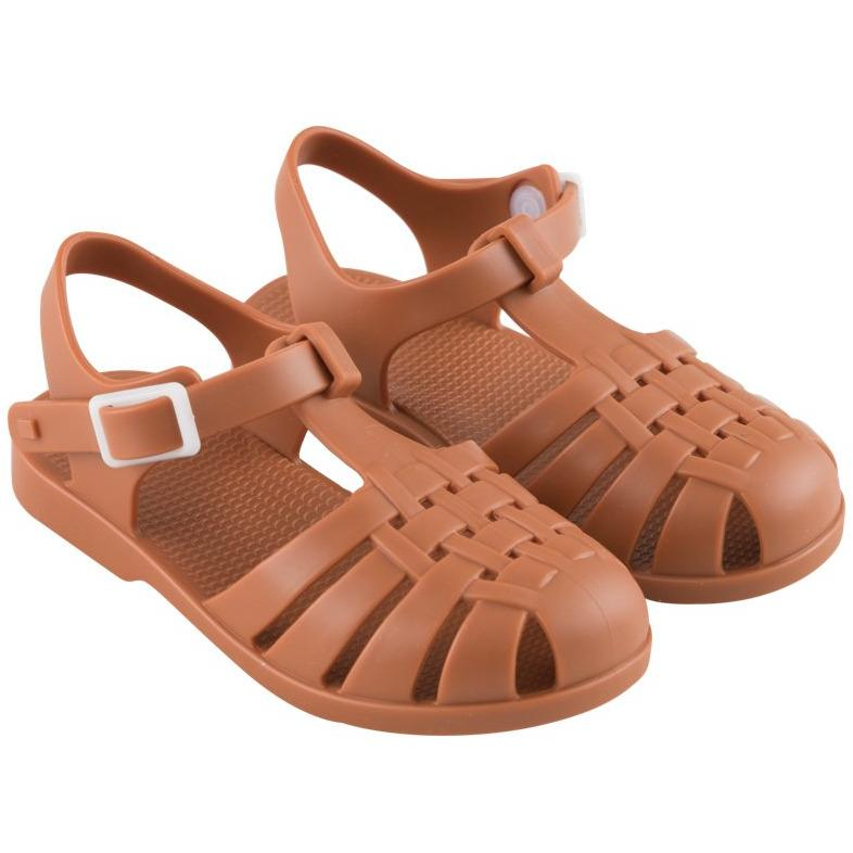 tinycottons baby jelly sandals nut brown