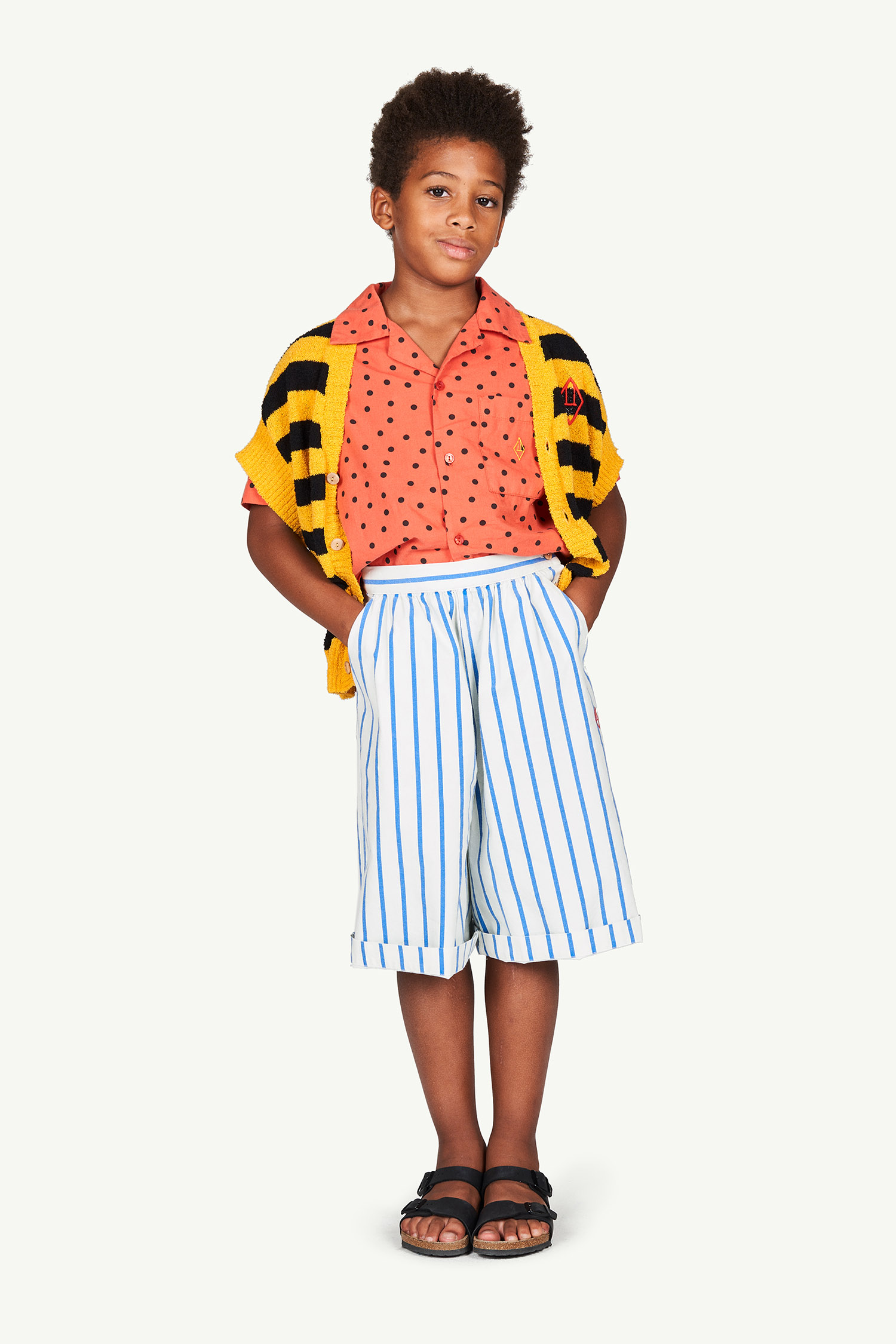 the animals observatory buffalo kids trousers white stripes
