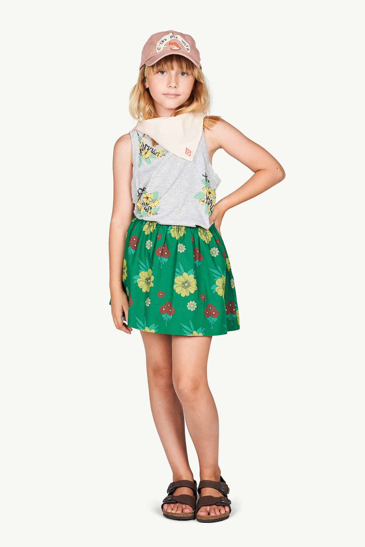 the animals observatory impala kids skirt green flowers