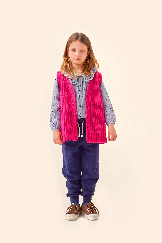 tinycottons solid vest fuchsia