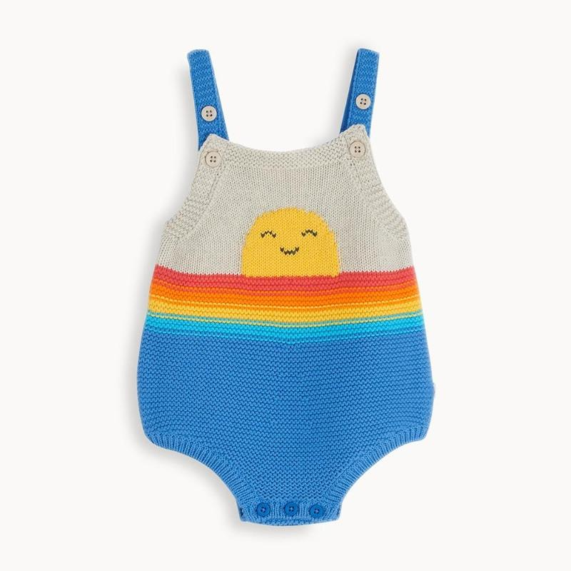 the bonnie mob bliss baby romper blue