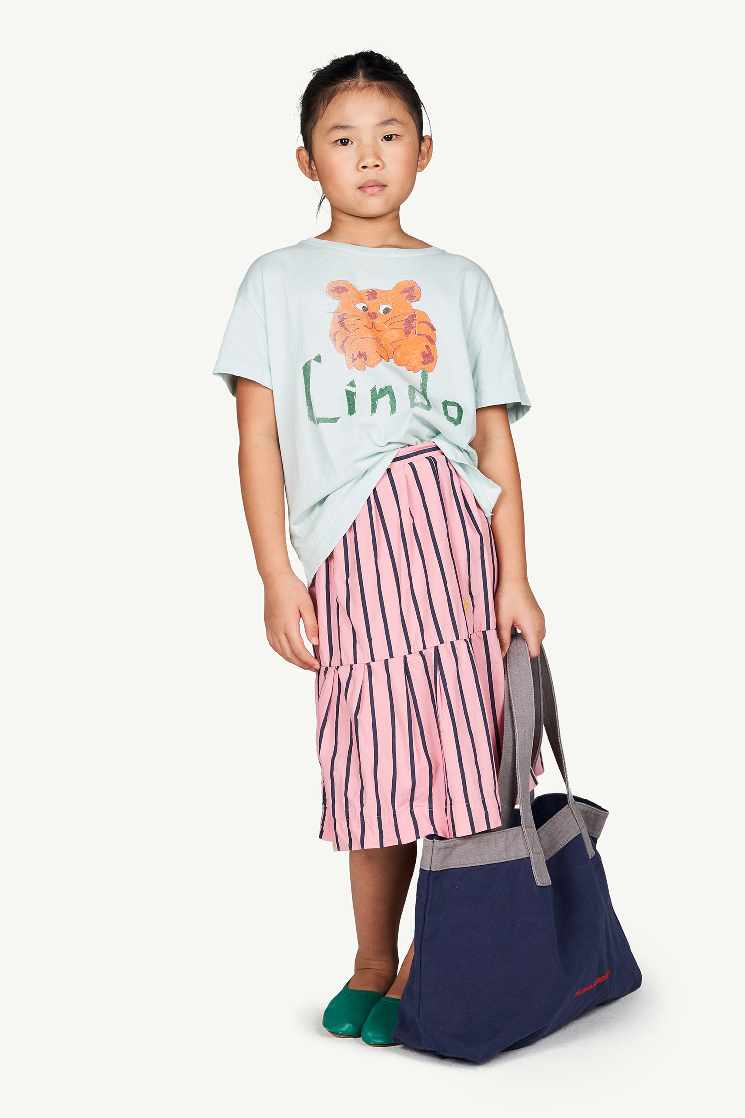 the animals observatory rooster kids oversized t shirt blue lindo
